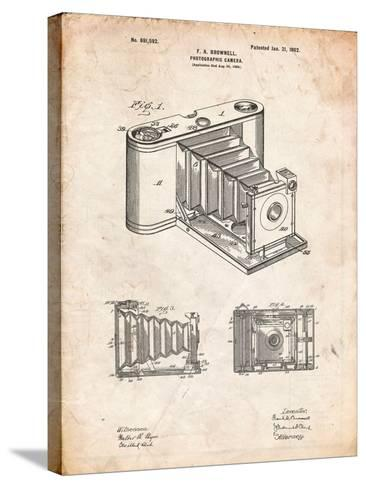 Kodak Pocket Folding Camera Patent-Cole Borders-Stretched Canvas Print