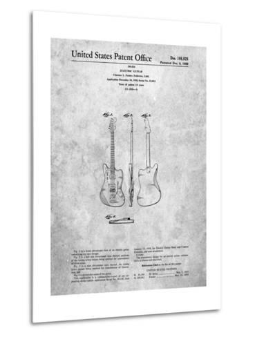 Fender Jazzmaster Guitar Patent-Cole Borders-Metal Print