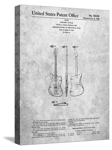 Fender Jazzmaster Guitar Patent-Cole Borders-Stretched Canvas Print