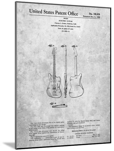 Fender Jazzmaster Guitar Patent-Cole Borders-Mounted Art Print