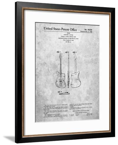 Fender Jazzmaster Guitar Patent-Cole Borders-Framed Art Print
