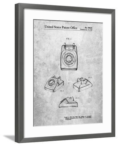 1960's Telephone-Cole Borders-Framed Art Print