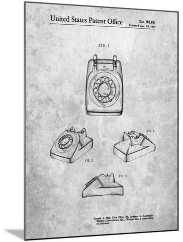 1960's Telephone-Cole Borders-Mounted Art Print
