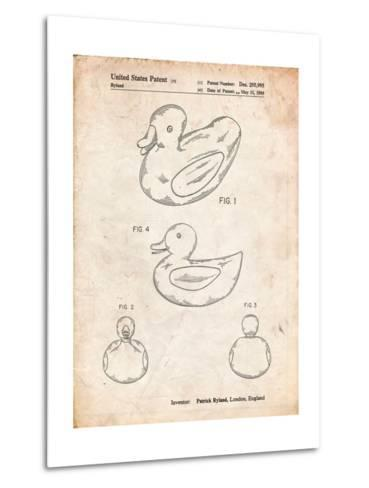 Rubber Ducky Patent-Cole Borders-Metal Print
