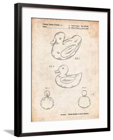 Rubber Ducky Patent-Cole Borders-Framed Art Print