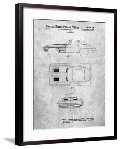 1962 Corvette Stingray Patent-Cole Borders-Framed Art Print