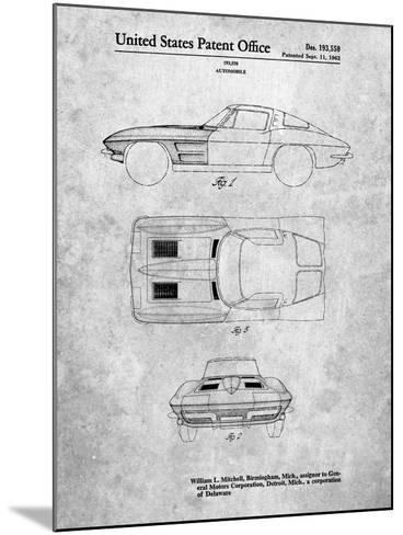 1962 Corvette Stingray Patent-Cole Borders-Mounted Art Print