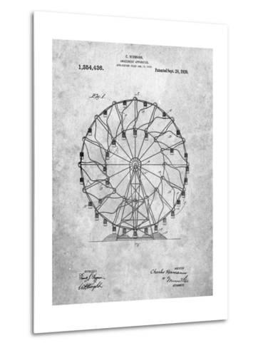Ferris Wheel 1920 Patent-Cole Borders-Metal Print
