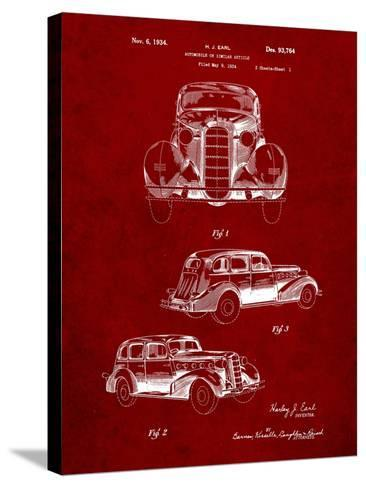 1934 Buick Automobile Patent-Cole Borders-Stretched Canvas Print