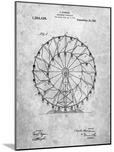 Ferris Wheel 1920 Patent-Cole Borders-Mounted Art Print