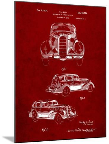 1934 Buick Automobile Patent-Cole Borders-Mounted Art Print