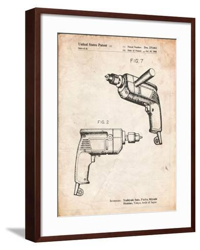 Ryobi Electric Drill Patent-Cole Borders-Framed Art Print