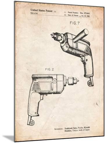 Ryobi Electric Drill Patent-Cole Borders-Mounted Art Print