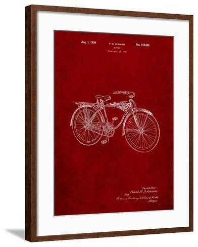 Schwinn 1939 BC117 Bicycle Patent-Cole Borders-Framed Art Print