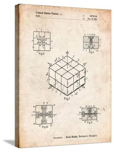 Rubik's Cube Patent-Cole Borders-Stretched Canvas Print