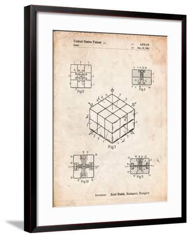 Rubik's Cube Patent-Cole Borders-Framed Art Print