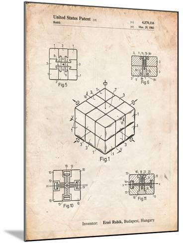 Rubik's Cube Patent-Cole Borders-Mounted Art Print