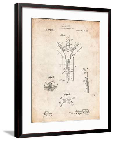 Zipper 1917 Patent-Cole Borders-Framed Art Print