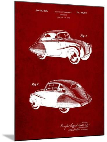 1936 Tatra Concept Patent-Cole Borders-Mounted Art Print