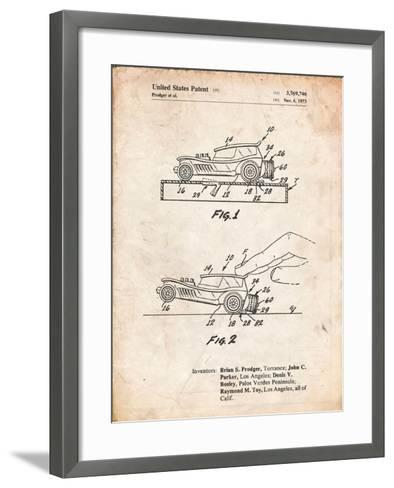 Rubber Band Toy Car Patent-Cole Borders-Framed Art Print
