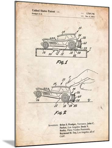 Rubber Band Toy Car Patent-Cole Borders-Mounted Art Print