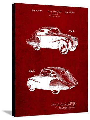 1936 Tatra Concept Patent-Cole Borders-Stretched Canvas Print