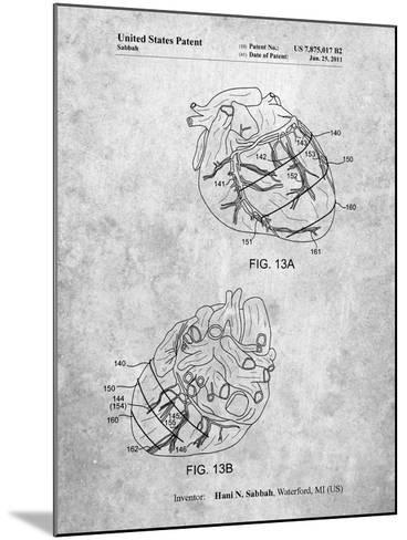 Anatomical Heart-Cole Borders-Mounted Art Print