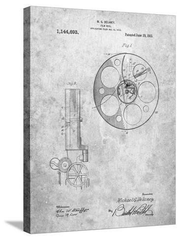 Film Reel 1915 Patent-Cole Borders-Stretched Canvas Print