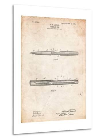 Sanford Fountain Pen 1905 Patent-Cole Borders-Metal Print