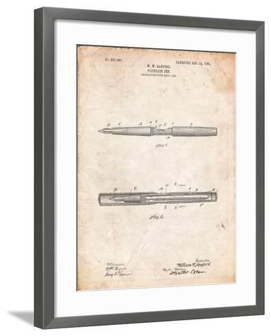 Sanford Fountain Pen 1905 Patent-Cole Borders-Framed Art Print