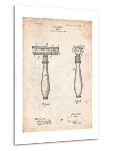 Safety Razor Patent-Cole Borders-Metal Print