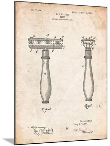 Safety Razor Patent-Cole Borders-Mounted Art Print
