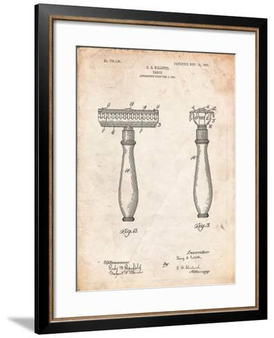 Safety Razor Patent-Cole Borders-Framed Art Print