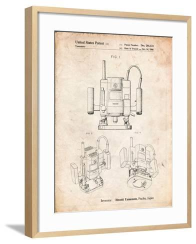 Ryobi Portable Router Patent-Cole Borders-Framed Art Print