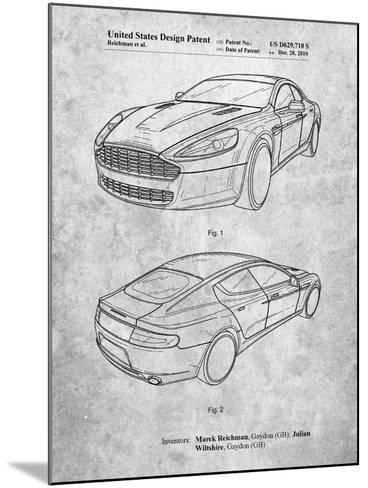 Aston Martin DBS Volante Patent-Cole Borders-Mounted Art Print