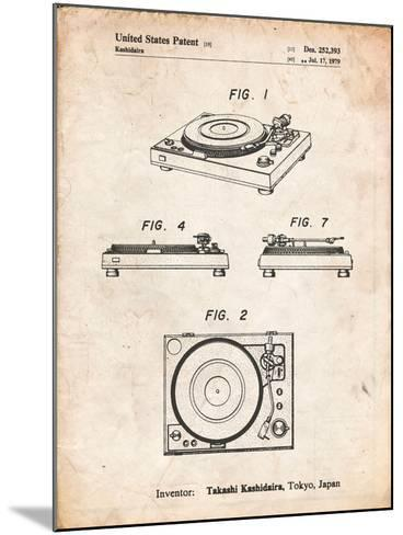 Sansui Turntable 1979 Patent-Cole Borders-Mounted Art Print