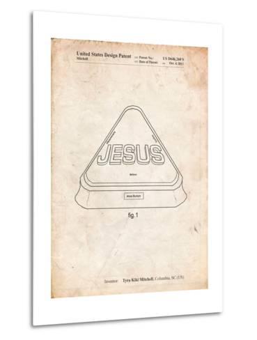 Jesus Button-Cole Borders-Metal Print