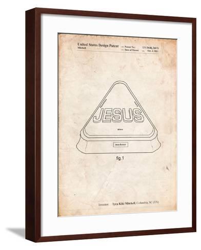 Jesus Button-Cole Borders-Framed Art Print