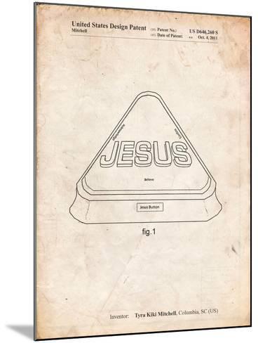Jesus Button-Cole Borders-Mounted Art Print