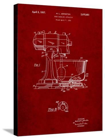 Kitchenaid Kitchen Mixer Patent-Cole Borders-Stretched Canvas Print