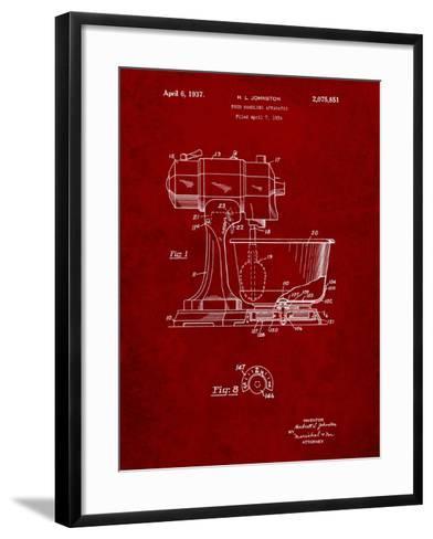 Kitchenaid Kitchen Mixer Patent-Cole Borders-Framed Art Print