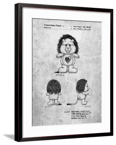 Brave Heart Lion Care Bear Patent Art Print-Cole Borders-Framed Art Print