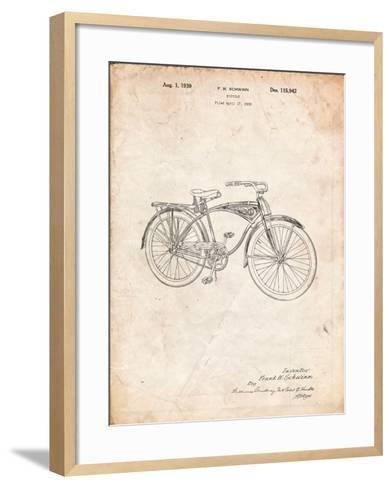 Schwinn 1939 BC117 Bicycle Patent-Cole Borders-Framed Art Print