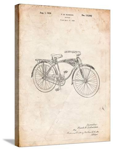 Schwinn 1939 BC117 Bicycle Patent-Cole Borders-Stretched Canvas Print