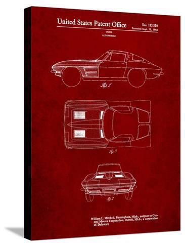 1962 Corvette Stingray Patent-Cole Borders-Stretched Canvas Print