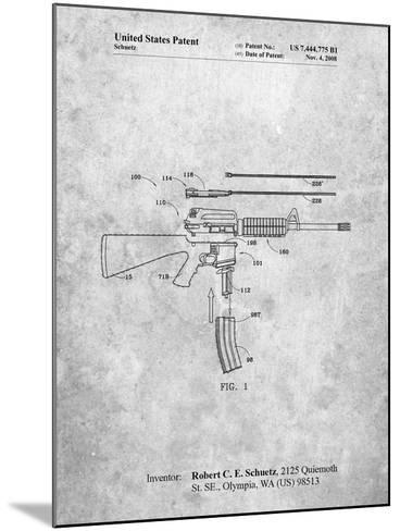 AR 15 Patent-Cole Borders-Mounted Art Print