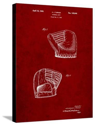 A.J. Turner Baseball Mitt Patent-Cole Borders-Stretched Canvas Print