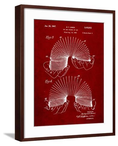 Slinky Toy Patent-Cole Borders-Framed Art Print