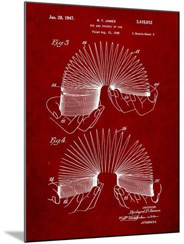 Slinky Toy Patent-Cole Borders-Mounted Art Print