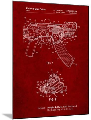 Ak-47 Bolt Locking Patent Print-Cole Borders-Mounted Art Print